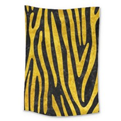 Skin4 Black Marble & Yellow Marble (r) Large Tapestry