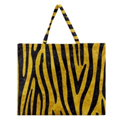 SKN4 BK-YL MARBLE Zipper Large Tote Bag