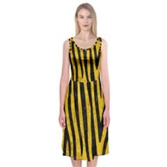 SKN4 BK-YL MARBLE Midi Sleeveless Dress
