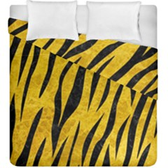 Skin3 Black Marble & Yellow Marble (r) Duvet Cover Double Side (king Size)