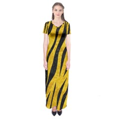 SKN3 BK-YL MARBLE (R) Short Sleeve Maxi Dress