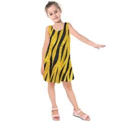 SKN3 BK-YL MARBLE (R) Kids  Sleeveless Dress