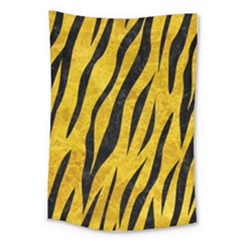 Skin3 Black Marble & Yellow Marble (r) Large Tapestry