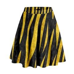 SKN3 BK-YL MARBLE High Waist Skirt