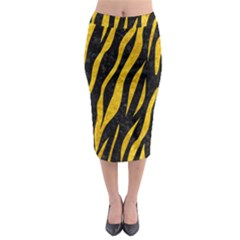 SKN3 BK-YL MARBLE Midi Pencil Skirt
