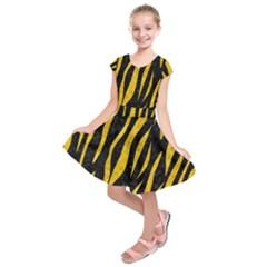 SKN3 BK-YL MARBLE Kids  Short Sleeve Dress