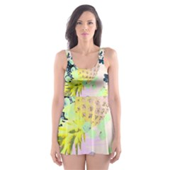 Colorful paint Skater Dress Swimsuit