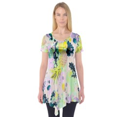 Colorful paint Short Sleeve Tunic