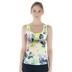 Colorful Paint Racer Back Sports Top