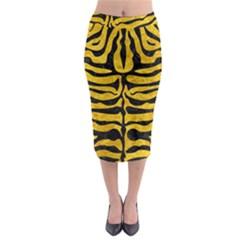 SKN2 BK-YL MARBLE (R) Midi Pencil Skirt