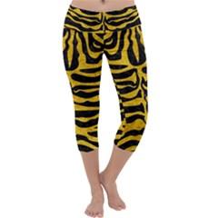 SKN2 BK-YL MARBLE Capri Yoga Leggings