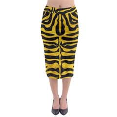 SKN2 BK-YL MARBLE Midi Pencil Skirt