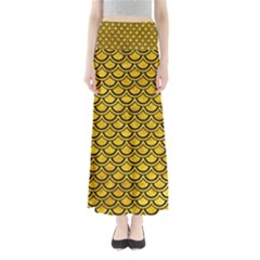 SCA2 BK-YL MARBLE (R) Maxi Skirts