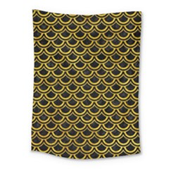 Scales2 Black Marble & Yellow Marble Medium Tapestry