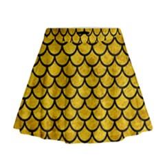 SCA1 BK-YL MARBLE (R) Mini Flare Skirt