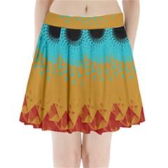 Bluesunfractal Pleated Mini Skirt