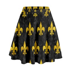 RYL1 BK-YL MARBLE (R) High Waist Skirt