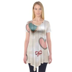 Cute hearts Short Sleeve Tunic