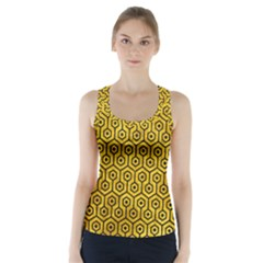 HXG1 BK-YL MARBLE (R) Racer Back Sports Top