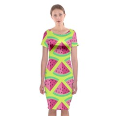 Lovely watermelon Classic Short Sleeve Midi Dress