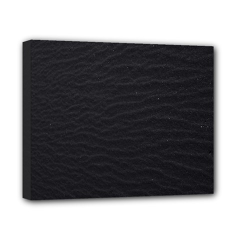 Black Pattern Sand Surface Texture Canvas 10  X 8
