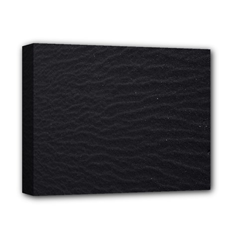 Black Pattern Sand Surface Texture Deluxe Canvas 14  X 11