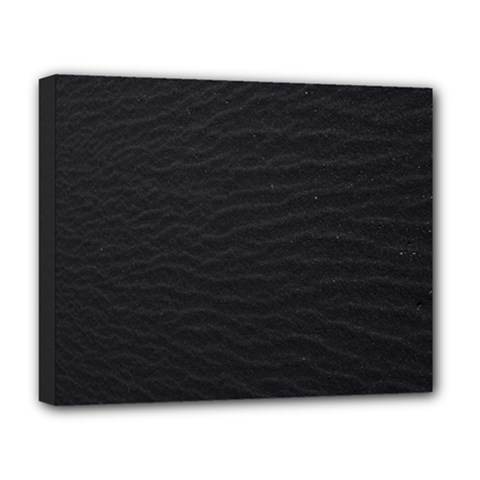 Black Pattern Sand Surface Texture Deluxe Canvas 20  X 16