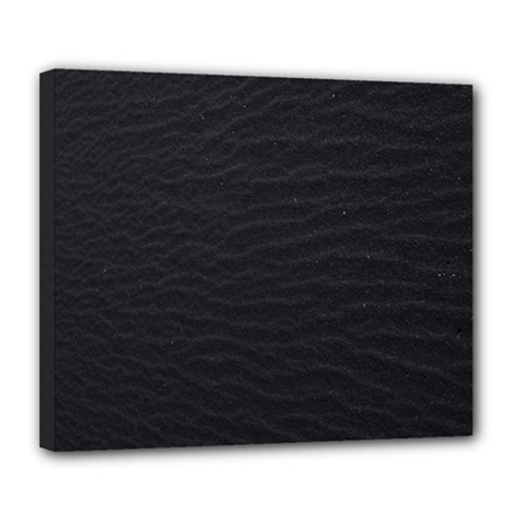 Black Pattern Sand Surface Texture Deluxe Canvas 24  X 20