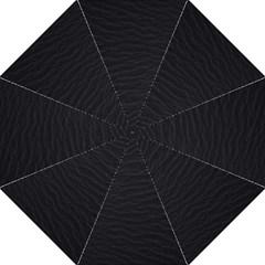 Black Pattern Sand Surface Texture Hook Handle Umbrellas (medium)