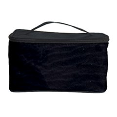 Black Pattern Sand Surface Texture Cosmetic Storage Case