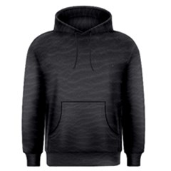 Black Pattern Sand Surface Texture Men s Pullover Hoodie