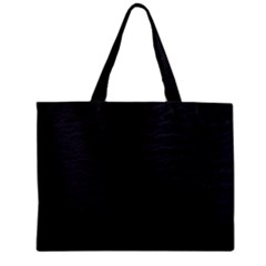 Black Pattern Sand Surface Texture Zipper Mini Tote Bag