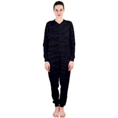 Black Pattern Sand Surface Texture Onepiece Jumpsuit (ladies)