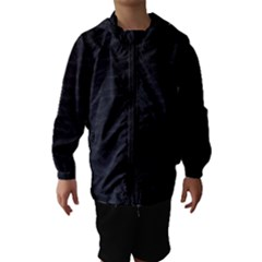 Black Pattern Sand Surface Texture Hooded Wind Breaker (kids)