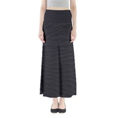 Black Pattern Sand Surface Texture Maxi Skirts