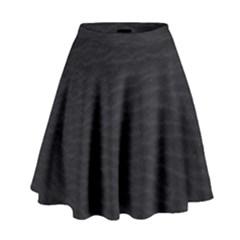 Black Pattern Sand Surface Texture High Waist Skirt