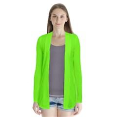 Bright Fluorescent Neon Green Cardigans