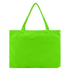 Bright Fluorescent Neon Green Medium Tote Bag