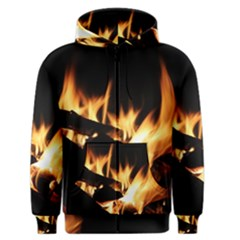 Bonfire Wood Night Hot Flame Heat Men s Zipper Hoodie