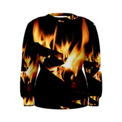 Bonfire Wood Night Hot Flame Heat Women s Sweatshirt