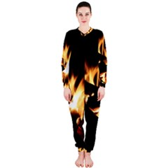 Bonfire Wood Night Hot Flame Heat OnePiece Jumpsuit (Ladies)