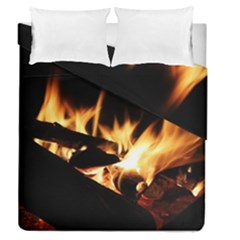 Bonfire Wood Night Hot Flame Heat Duvet Cover Double Side (queen Size)