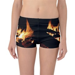 Bonfire Wood Night Hot Flame Heat Reversible Bikini Bottoms