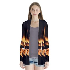 Bonfire Wood Night Hot Flame Heat Cardigans