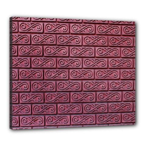 Brick Wall Brick Wall Canvas 24  X 20