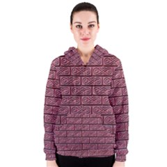 Brick Wall Brick Wall Women s Zipper Hoodie