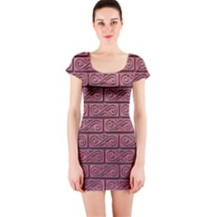 Brick Wall Brick Wall Short Sleeve Bodycon Dress