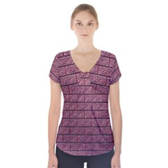 Brick Wall Brick Wall Short Sleeve Front Detail Top
