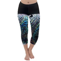 Bubble Iridescent Soap Bubble Capri Winter Leggings