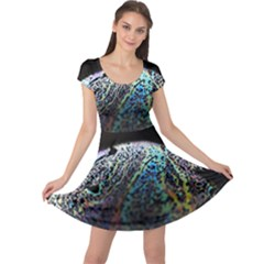 Bubble Iridescent Soap Bubble Cap Sleeve Dresses